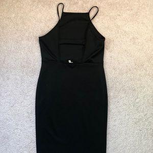 (URBAN OUTFITTERS) black midi dress